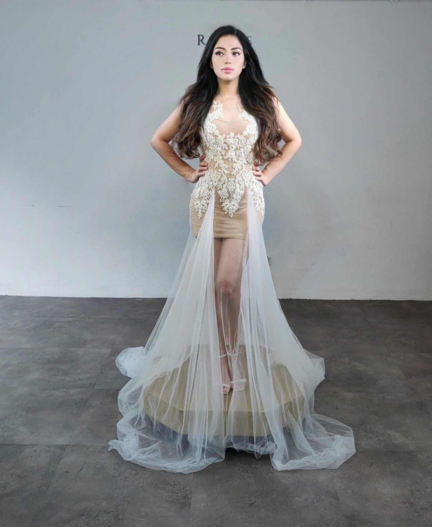 Serpentine Bridal Gown - another look